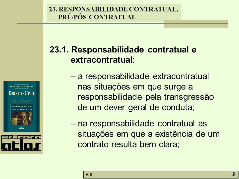 23.1. Responsabilidade contratual e extracontratual: