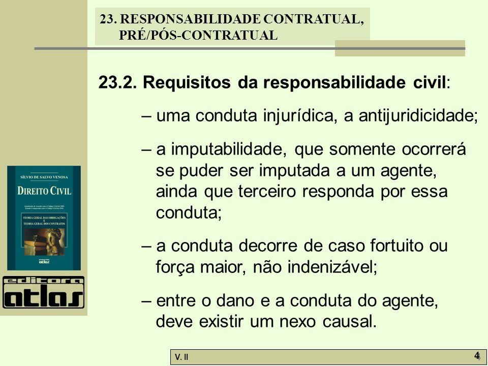 23.2. Requisitos da responsabilidade civil: