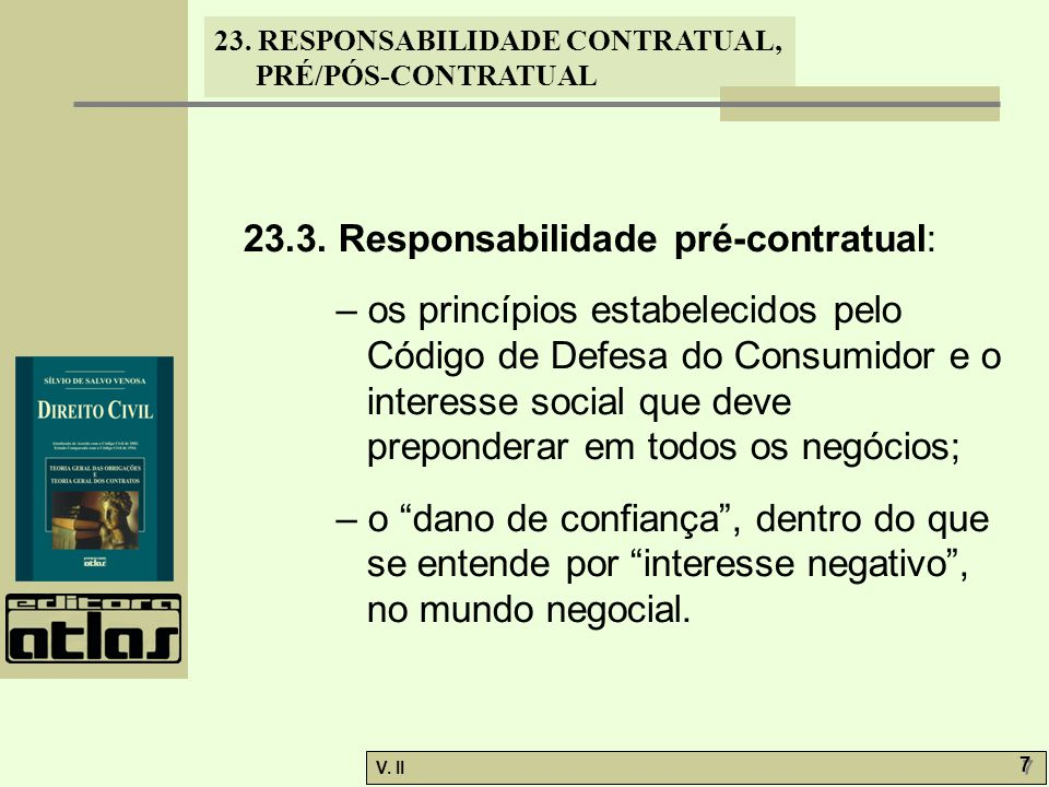 23.3. Responsabilidade pré-contratual: