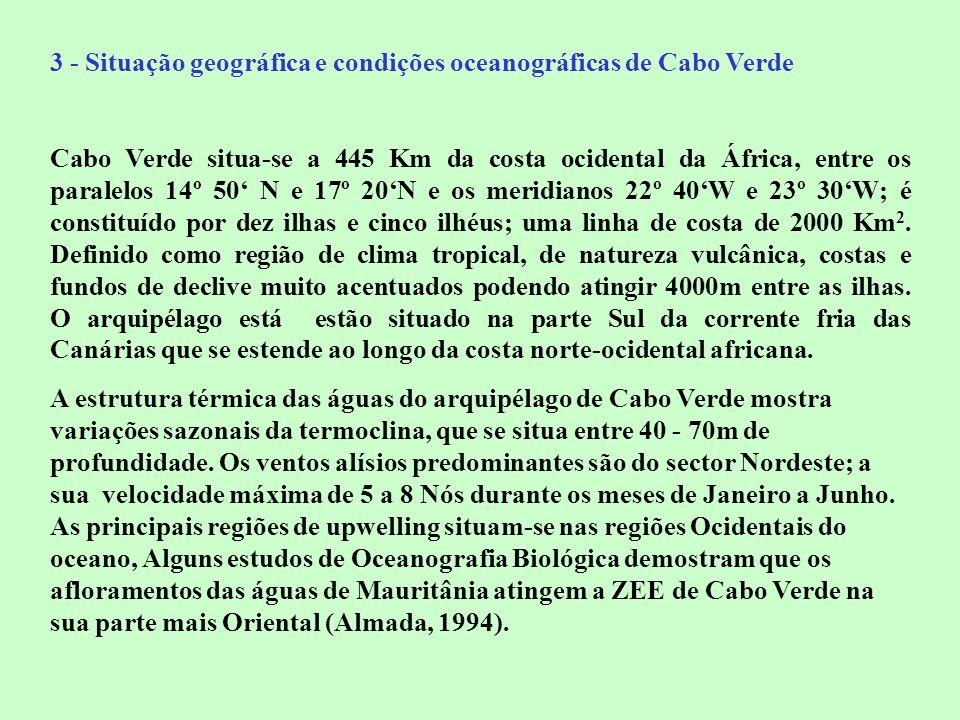 3 - Situação geográfica e condições oceanográficas de Cabo Verde