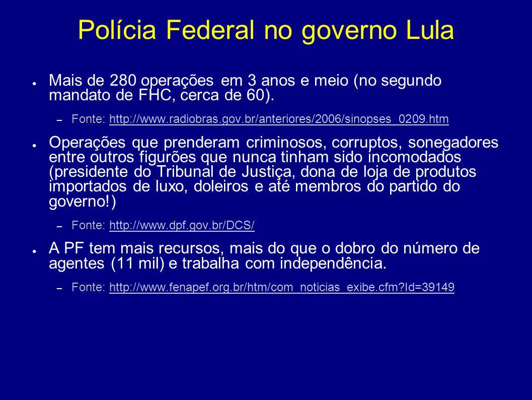 Polícia Federal no governo Lula