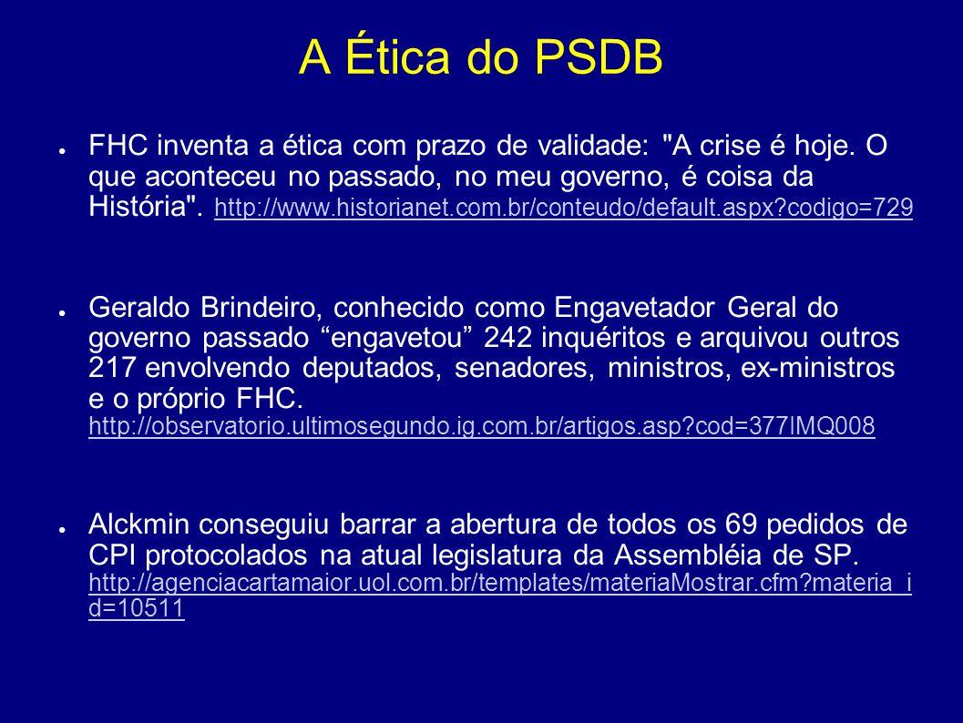 A Ética do PSDB