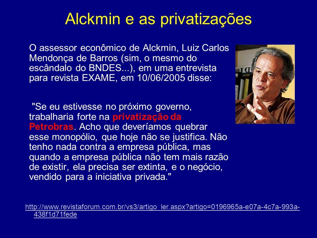 Alckmin e as privatizações
