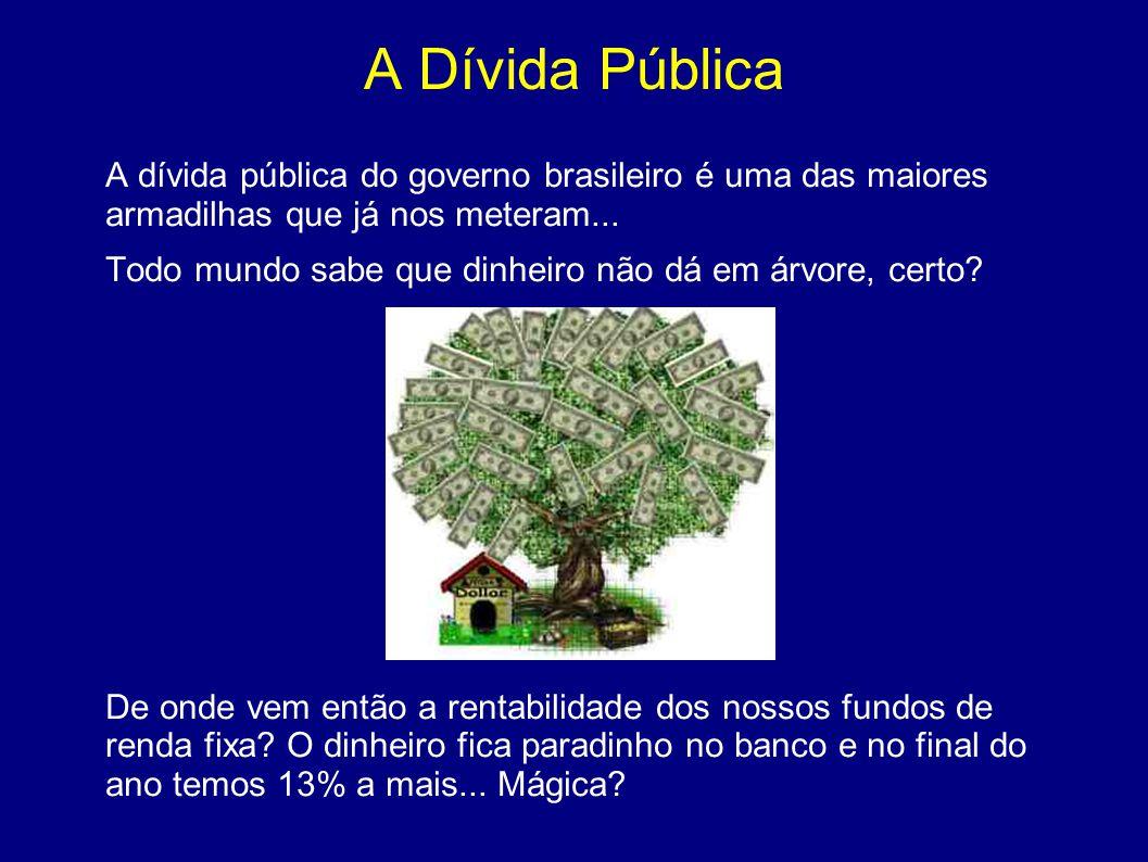 A Dívida Pública A dívida pública do governo brasileiro é uma das maiores armadilhas que já nos meteram...