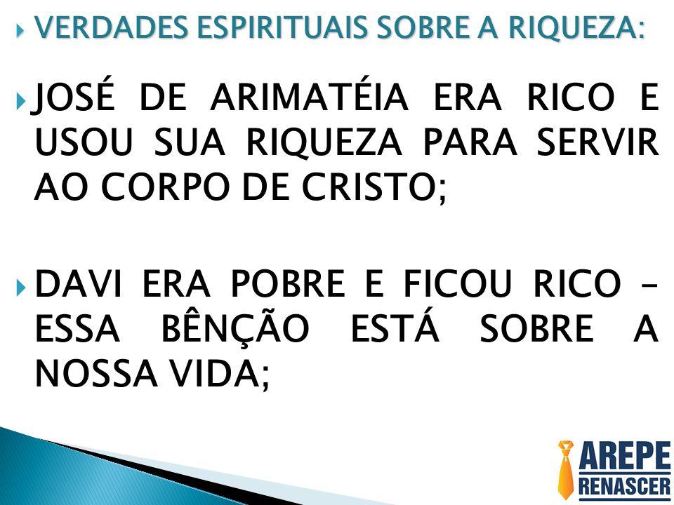 DAVI ERA POBRE E FICOU RICO – ESSA BÊNÇÃO ESTÁ SOBRE A NOSSA VIDA;