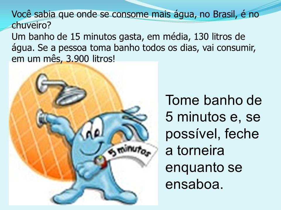 Você sabia que onde se consome mais água, no Brasil, é no chuveiro