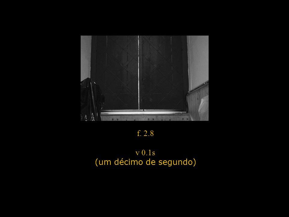 f. 2.8 v 0.1s (um décimo de segundo)