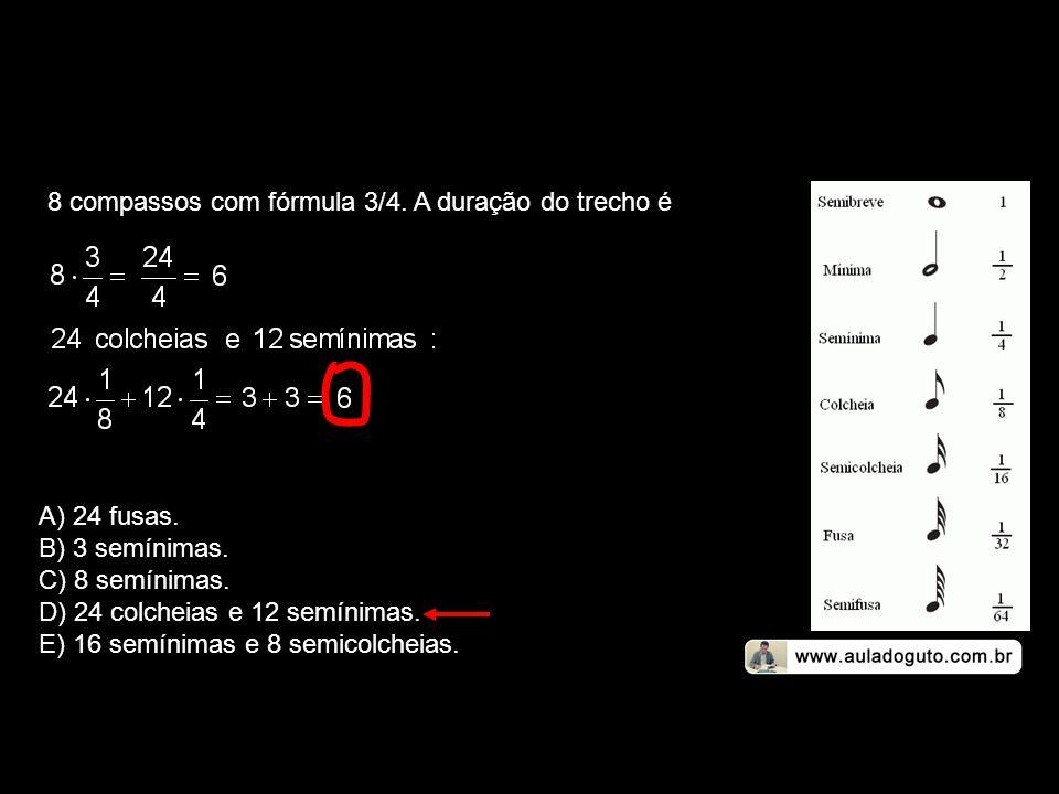8 compassos com fórmula 3/4. A duração do trecho é