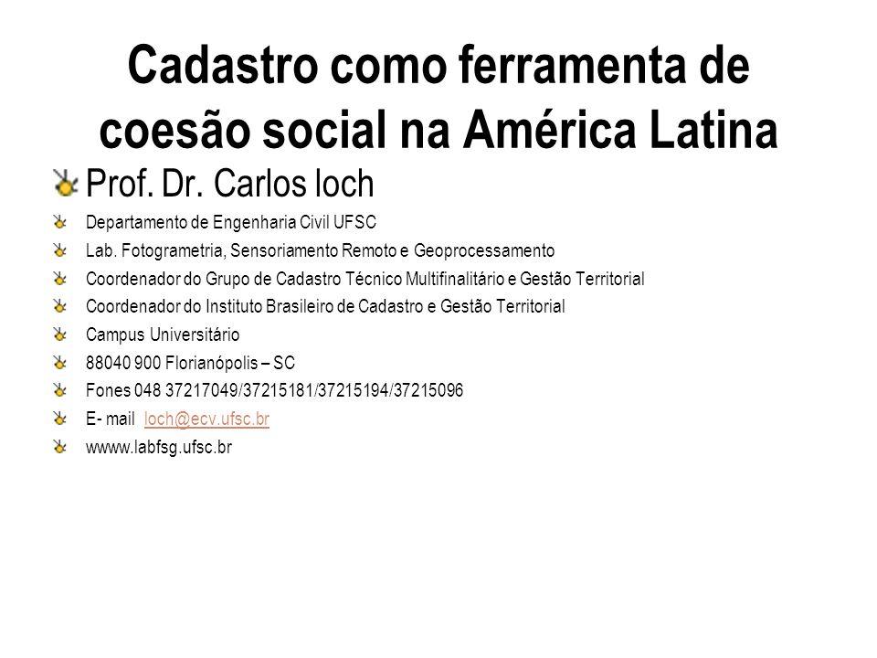 Cadastro como ferramenta de coesão social na América Latina
