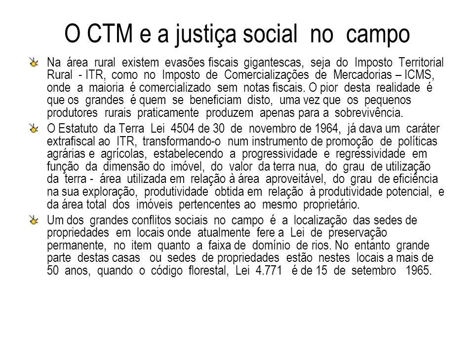 O CTM e a justiça social no campo
