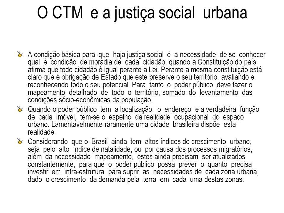 O CTM e a justiça social urbana