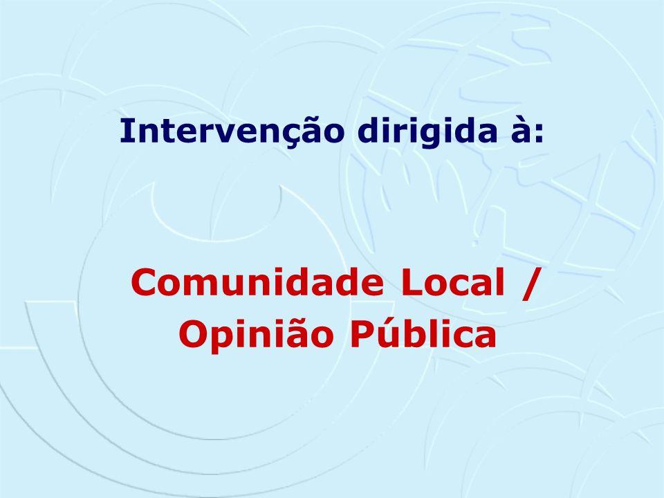 Comunidade Local / Opinião Pública
