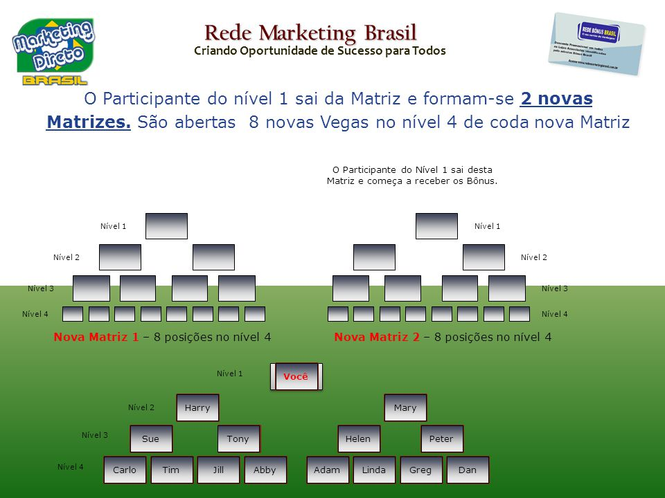 Rede Marketing Brasil Criando Oportunidade de Sucesso para Todos.
