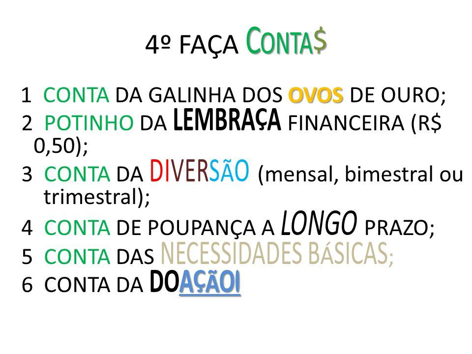 4º FAÇA Conta$ 2 POTINHO DA LEMBRAÇA FINANCEIRA (R$ 0,50);