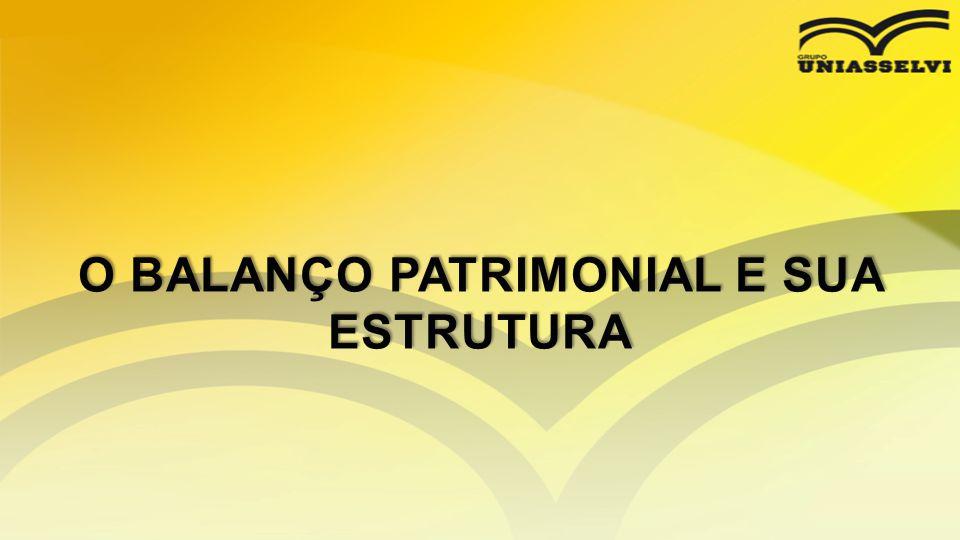 O BALANÇO PATRIMONIAL E SUA ESTRUTURA