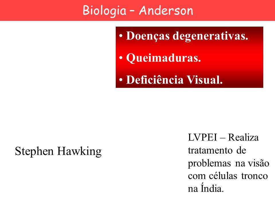 Doenças degenerativas. Queimaduras. Deficiência Visual.