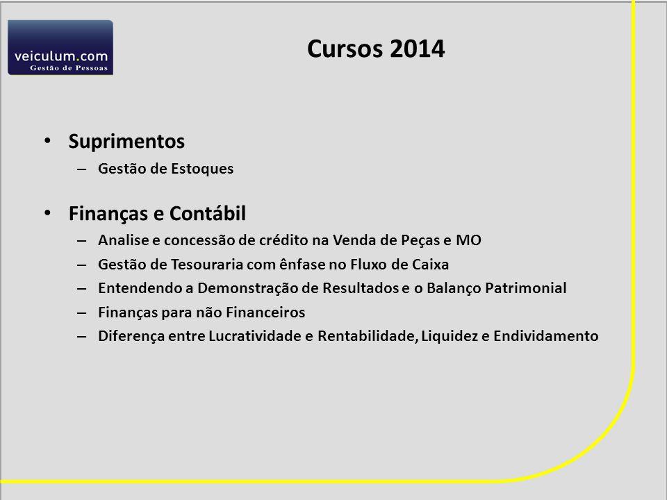 Cursos 2014 Suprimentos Finanças e Contábil Gestão de Estoques