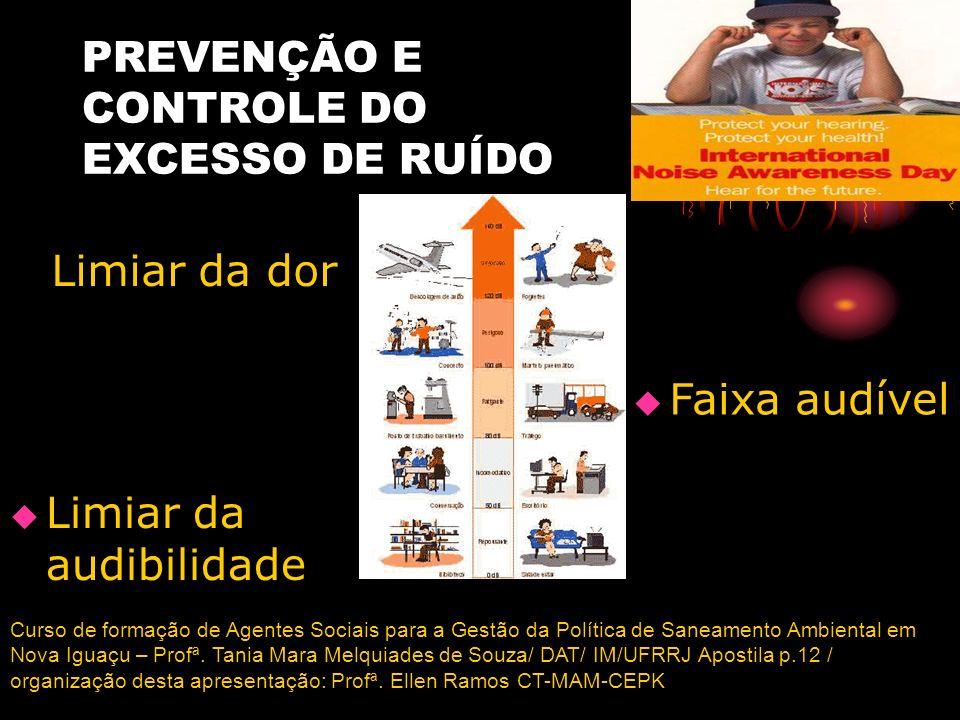 PREVENÇÃO E CONTROLE DO EXCESSO DE RUÍDO