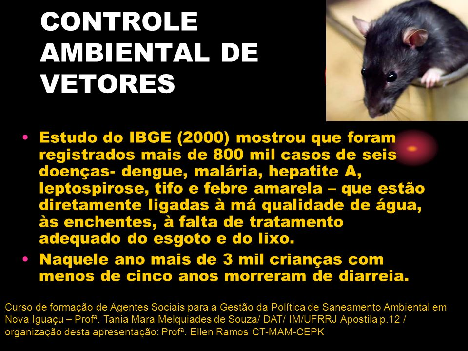 CONTROLE AMBIENTAL DE VETORES
