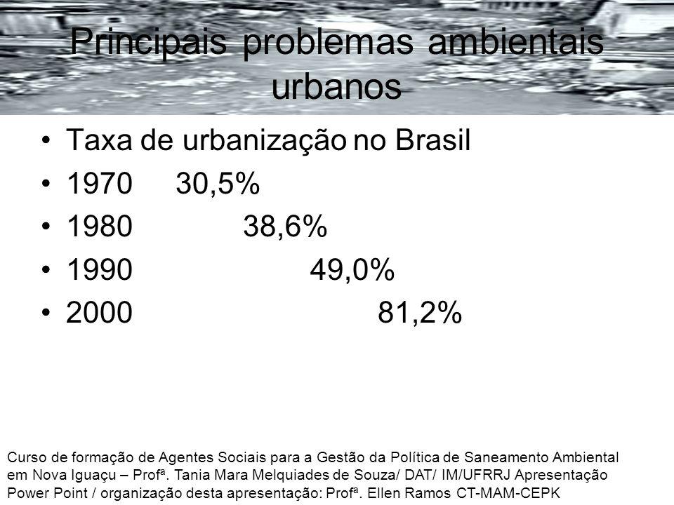 Principais problemas ambientais urbanos