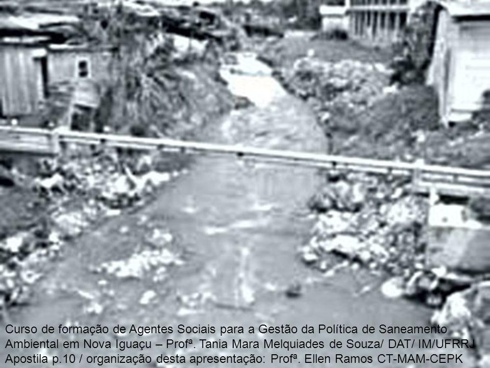 Curso de formação de Agentes Sociais para a Gestão da Política de Saneamento Ambiental em Nova Iguaçu – Profª.