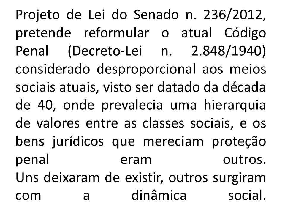 Projeto de Lei do Senado n
