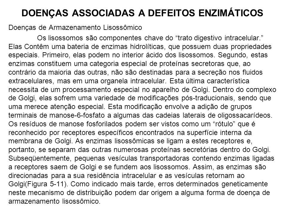 DOENÇAS ASSOCIADAS A DEFEITOS ENZIMÁTICOS