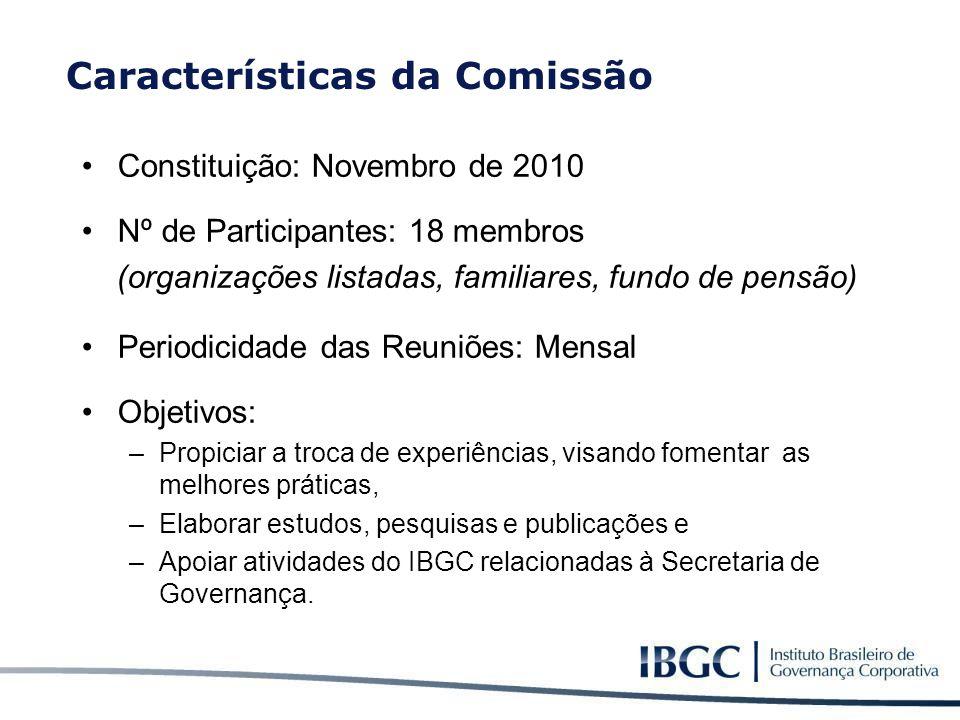 Características da Comissão