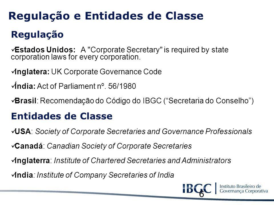 Regulação e Entidades de Classe