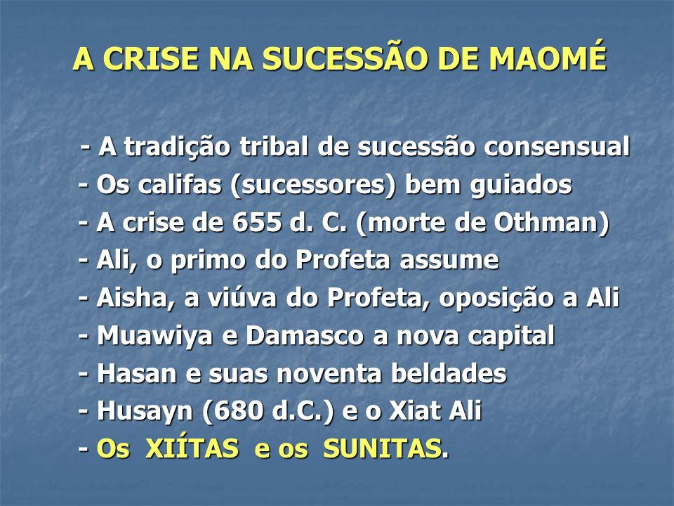 A CRISE NA SUCESSÃO DE MAOMÉ