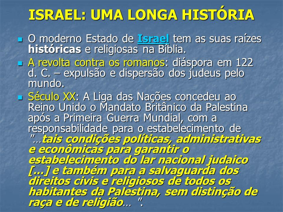ISRAEL: UMA LONGA HISTÓRIA