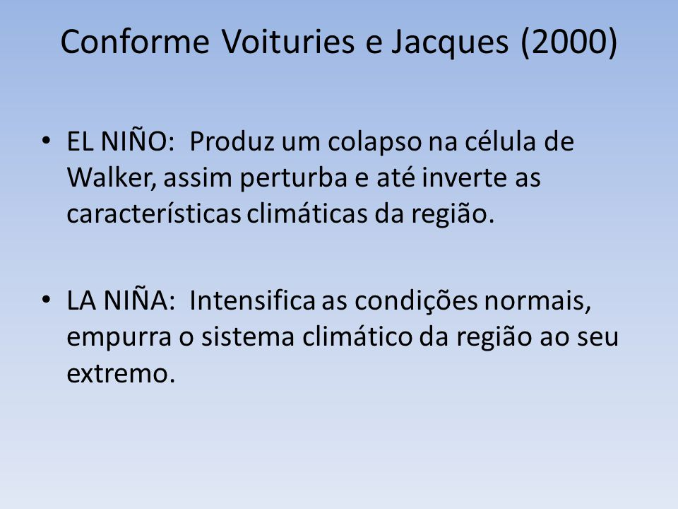Conforme Voituries e Jacques (2000)