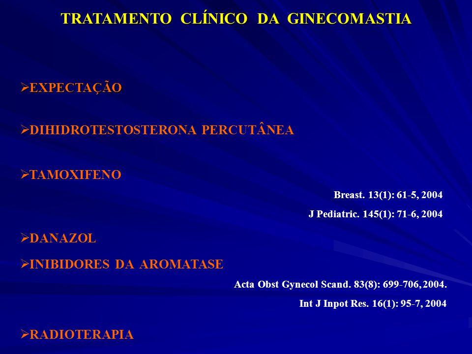 TRATAMENTO CLÍNICO DA GINECOMASTIA