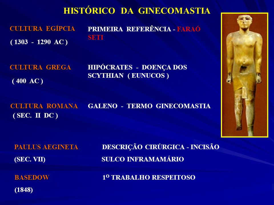 HISTÓRICO DA GINECOMASTIA