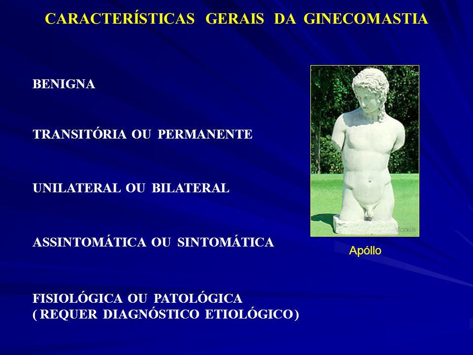 CARACTERÍSTICAS GERAIS DA GINECOMASTIA