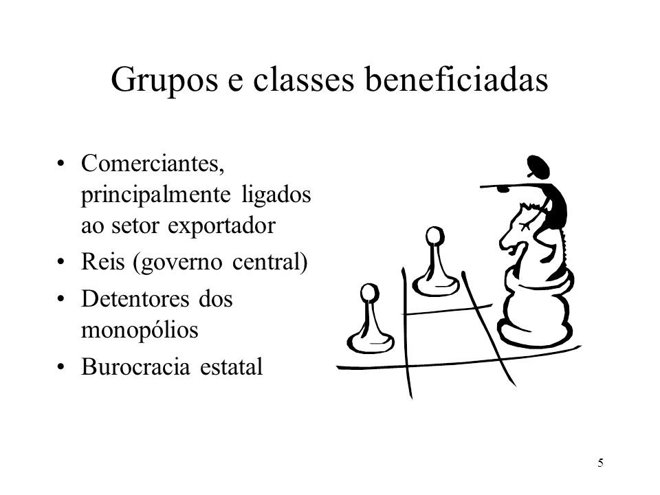 Grupos e classes beneficiadas