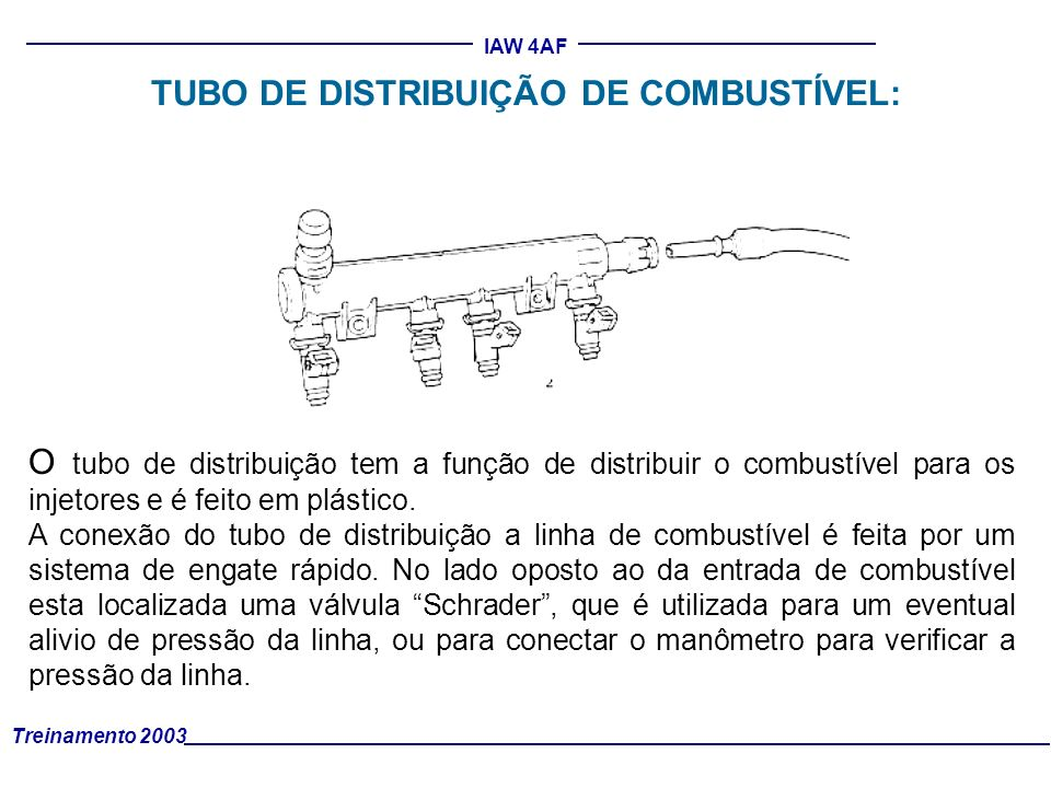 TUBO DE DISTRIBUIÇÃO DE COMBUSTÍVEL: