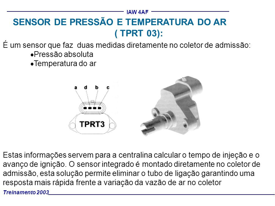 SENSOR DE PRESSÃO E TEMPERATURA DO AR ( TPRT 03):
