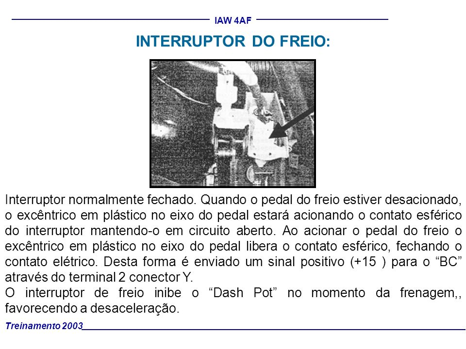 INTERRUPTOR DO FREIO: