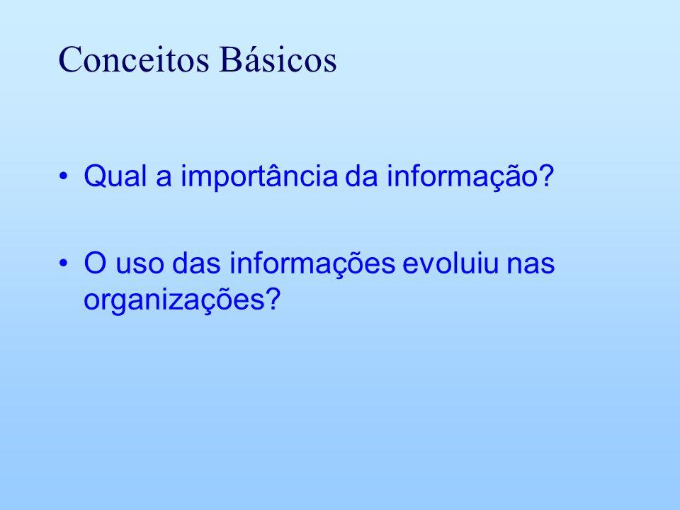 Conceitos Básicos Qual a importância da informação