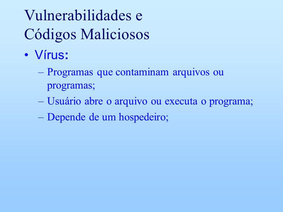Vulnerabilidades e Códigos Maliciosos