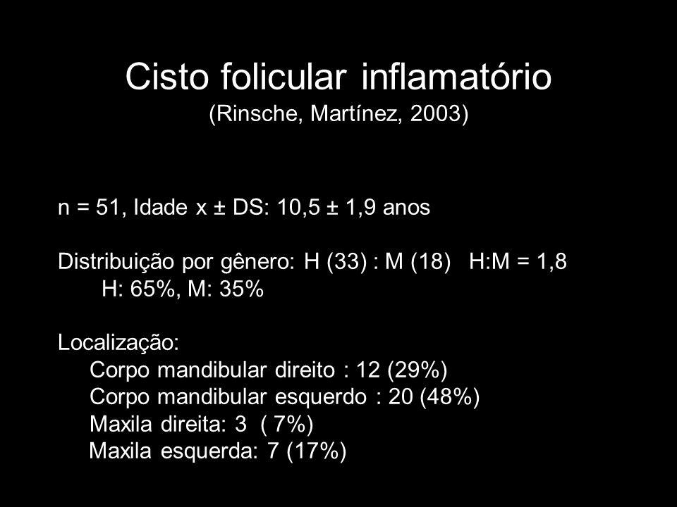 Cisto folicular inflamatório (Rinsche, Martínez, 2003)