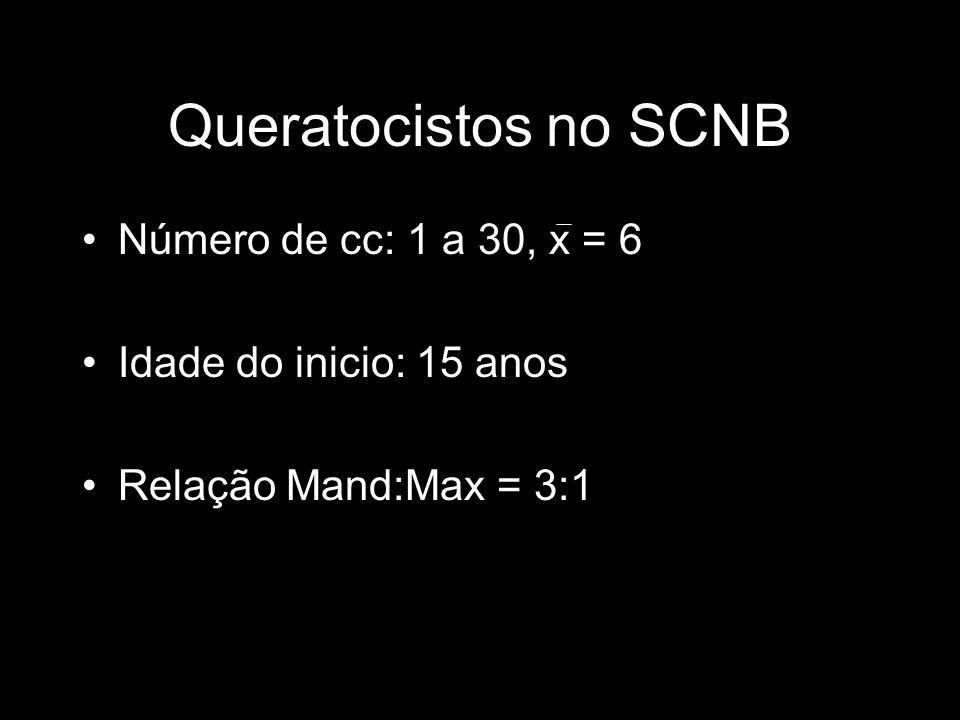 Queratocistos no SCNB Número de cc: 1 a 30, x = 6
