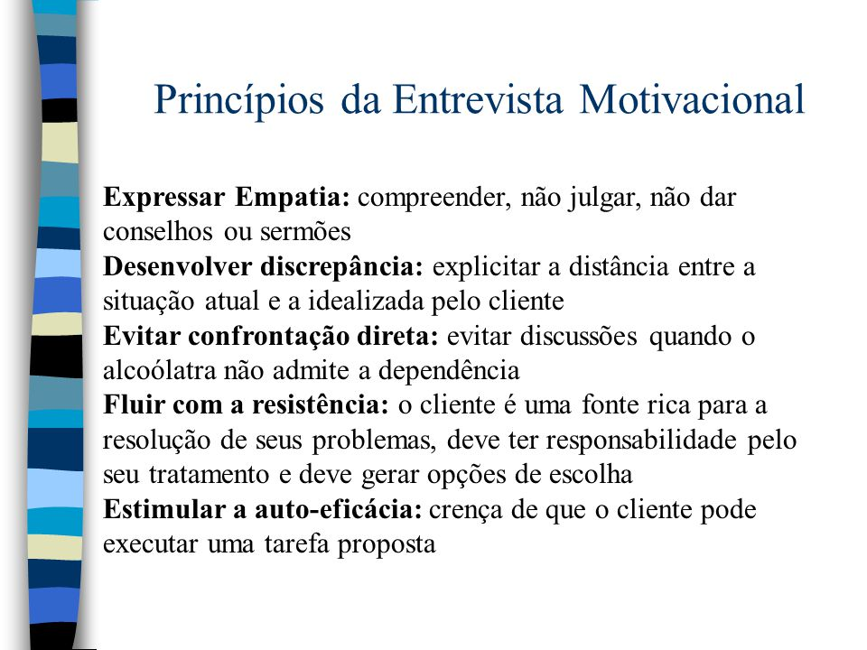 Princípios da Entrevista Motivacional