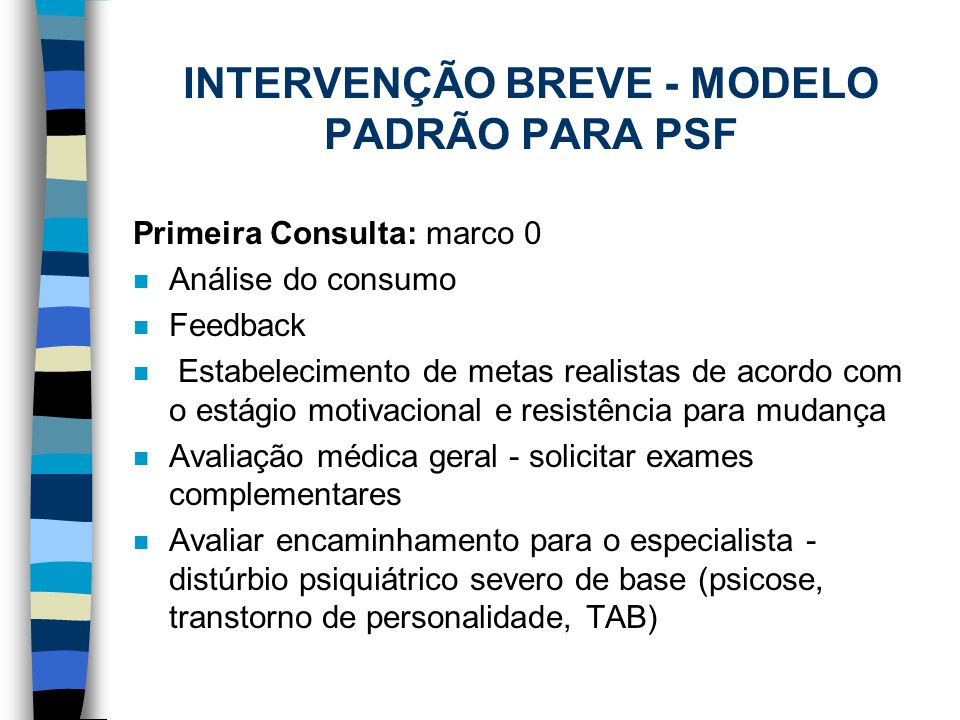 INTERVENÇÃO BREVE - MODELO PADRÃO PARA PSF