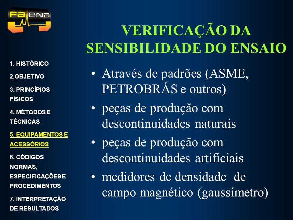VERIFICAÇÃO DA SENSIBILIDADE DO ENSAIO