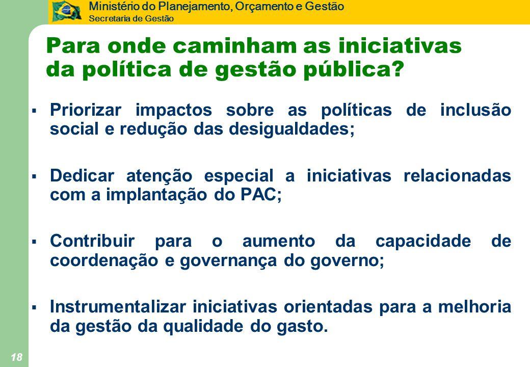 Para onde caminham as iniciativas da política de gestão pública