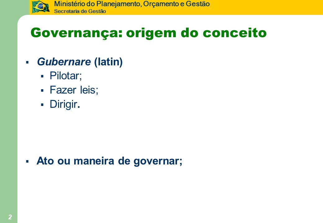 Governança: origem do conceito