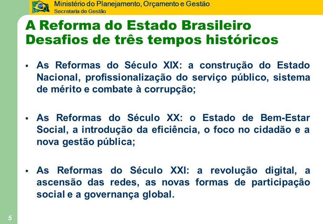 A Reforma do Estado Brasileiro Desafios de três tempos históricos