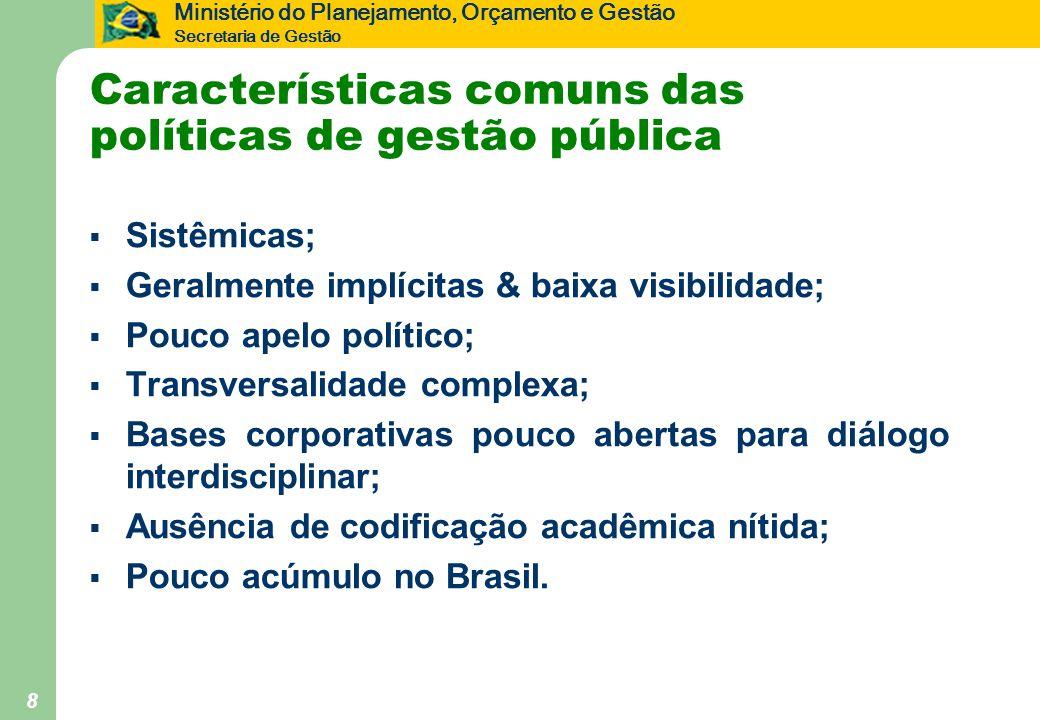 Características comuns das políticas de gestão pública